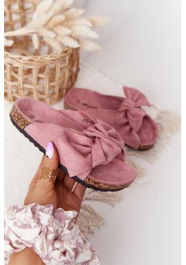 Trendy dievčenské šľapky v ružovej farbe