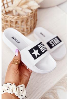 Detské šľapky značky BIG STAR v bielej farbe