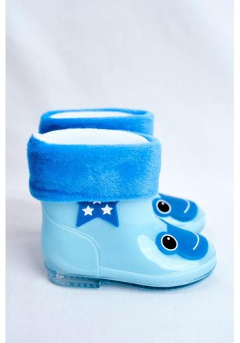 Detské gumáky so žabkou v modrej farbe