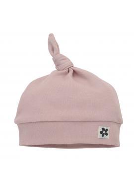 Bavlnená detská čiapočka v ružovej farbe