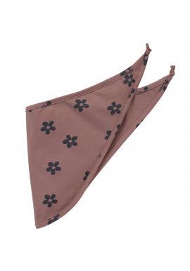 Bavlnená šatka pre dievčatko v ružovej farbe s motívom kvietkov