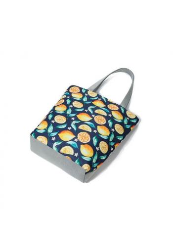 Dámska plážová taška s potlačou citrónov