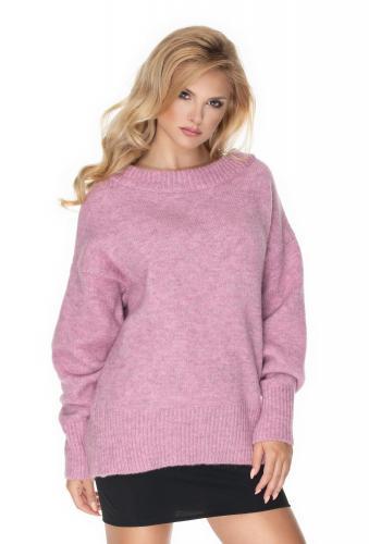 Dámsky fialový oversize sveter pre dámy