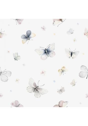 Jemná detská tapeta s motívom motýľov