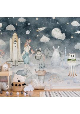 Detská tapeta na stenu s motívom vesmír