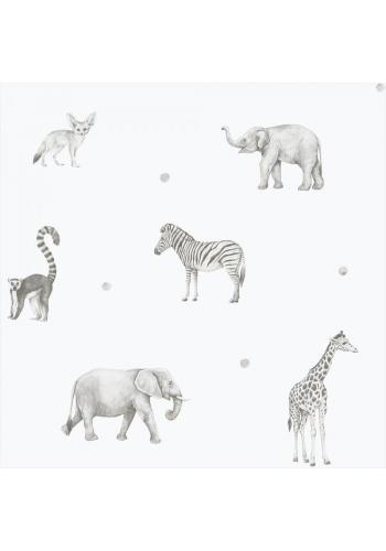 Tapeta na stenu s motívom Safari zvierat