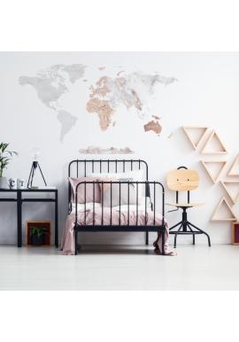 Nálepka na stenu v podobe mapy sveta s mramorovým motívom
