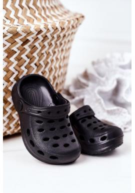 Čierne gumené šľapky pre chlapcov