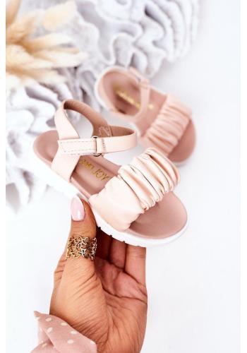 Módne detské sandálky v ružovej farbe vo výpredaji