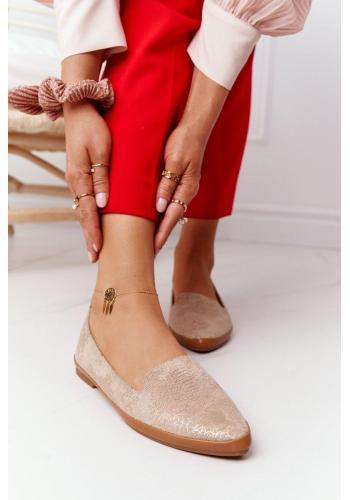 Béžové semišové balerínky pre dámy