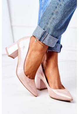Módne saténové lodičky pre dámy v ružovej farbe