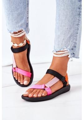 Športové farebné letné sandále na suchý zips