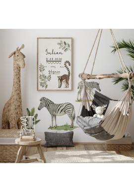 Safari sada nálepiek v podobe zebier