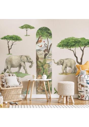 Sada nálepiek v podobe slonov z kolekcie Safari
