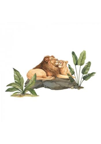 Sada nálepiek v podobe levov