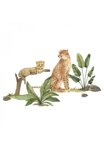 Safari sada nálepiek v podobe gepardov