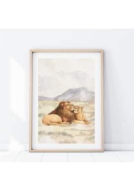 Plagát s motívom levieho páru
