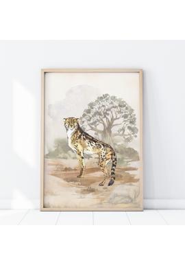 Plagát z kolekcie safari s motívom geparda