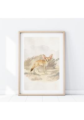 Plagát z kolekcie safari s motívom líšky fenek