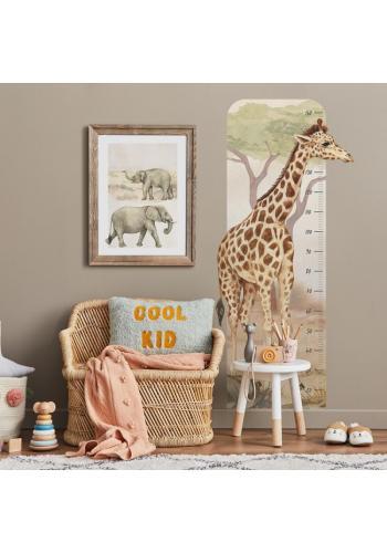 Detský výškový meter na stenu s motívom žirafy
