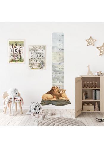 Safari výškový meter na stenu s motívom levieho páru