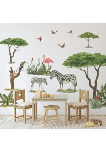 Sada nálepiek z kolekcie safari v podobe stromov