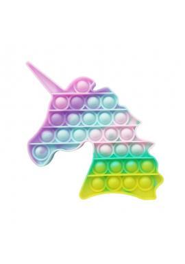Antistresová senzorická hračka PUSH POP BUBBLE v tvare jednorožca