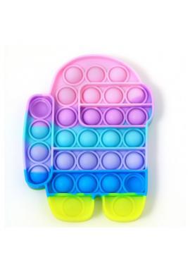 Senzorická antistresová hračka PUSH POP BUBBLE v tvare among us