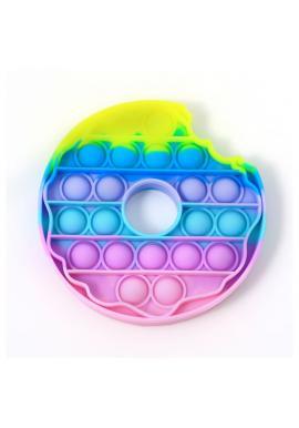 Antistresová senzorická hračka PUSH POP BUBBLE v tvare donutu