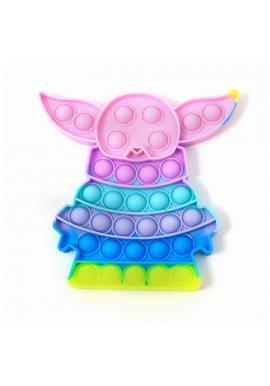 Senzorická antistresová hračka PUSH POP BUBBLE v tvare Yody