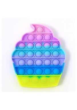 Antistresová senzorická hračka PUSH POP BUBBLE v tvare cupcake