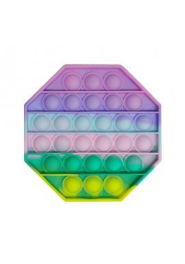 PUSH POP BUBBLE senzorická antistresová hračka v tvare osemuholníka