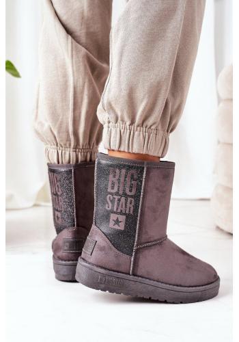 Sivé semišové snehule Big Star pre dámy