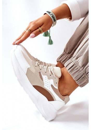 Dámske športové Sneakersy v béžovej farbe