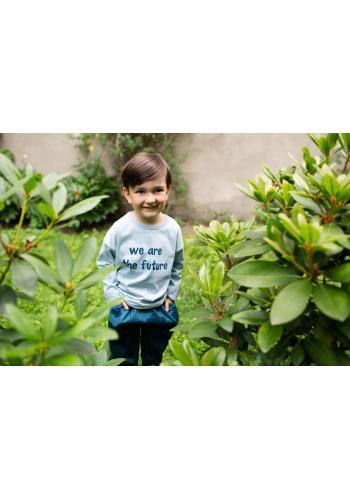 Chlapčenské tričko s dlhým rukávom a nápisom v modrej farbe