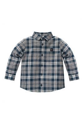 Károvaná košeľa pre chlapcov v modrej farbe