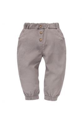 Dievčenské sivé menčestrové nohavice