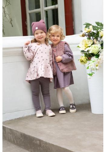 Bavlnené dievčenské sivé legíny