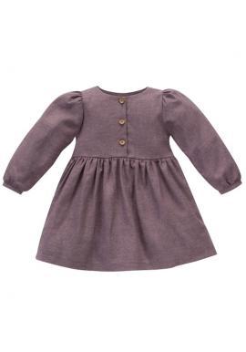 Módne dievčenské tmavo ružové šaty
