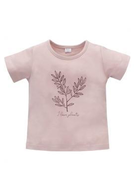Dievčenské tričko s krátkym rukávom v ružovej farbe