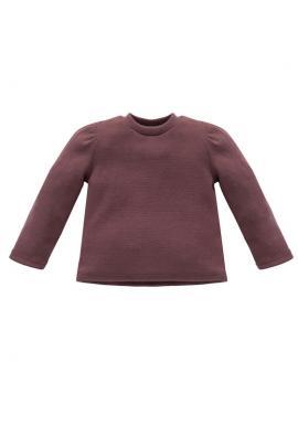 Tmavoružový dievčenský bavlnený svetrík