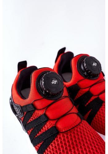 Červené športové tenisky s kolieskom pre deti