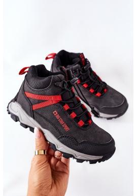 Detské trekingové topánky Big Star v čiernej farbe