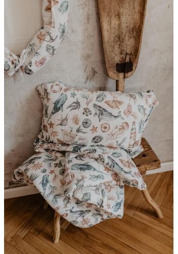 Bavlnená sada do postele s výplňou - svet oceánu