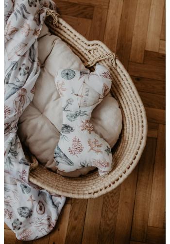 Detský bambusový vankúš motýľ - svet oceánu