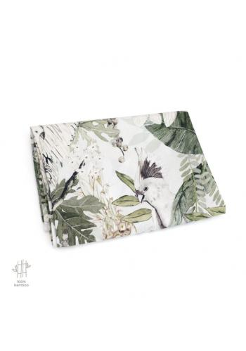 Bambusová deka na leto s motívom tropických vibrácií