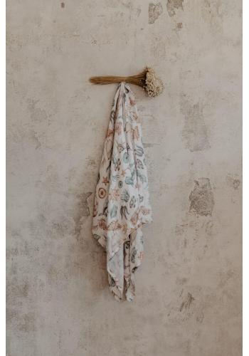 Mušelínovo-bambusová deka - svet oceánu