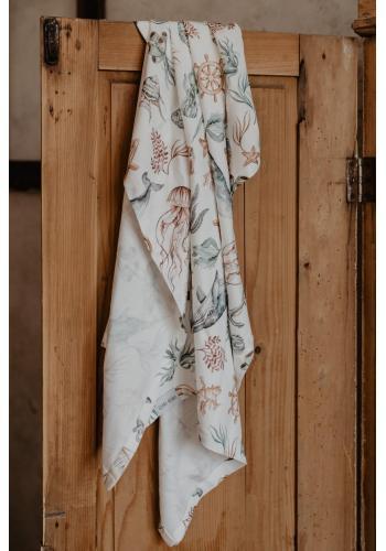Detská bambusová deka - svet oceánu
