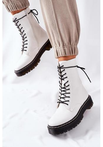 Módne Workery v bielej farbe pre dámy