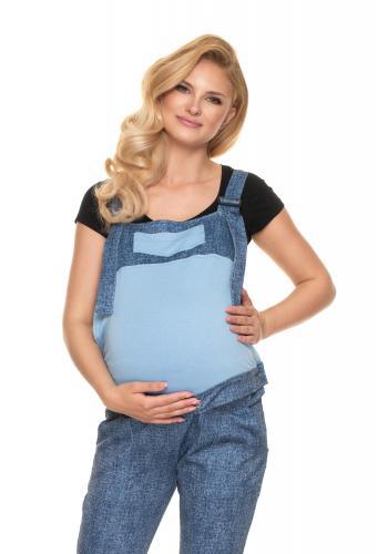 Tehotenské montérky v modrej farbe JEANS LOOK